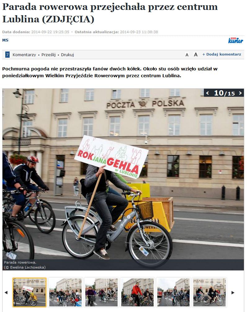 parada rowerowa ETZT