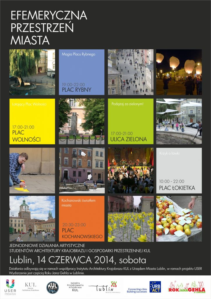2014 Plakat efemeryczna przestrzen miasta